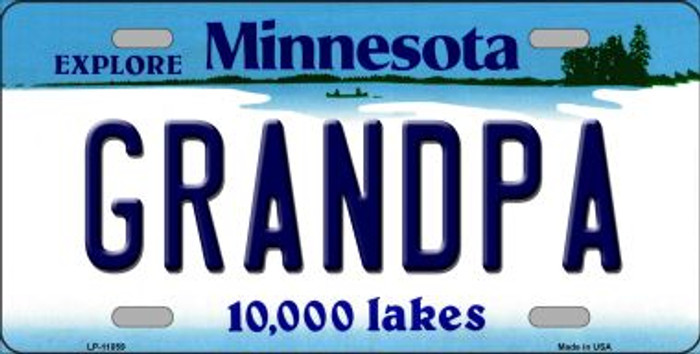 Grandpa Minnesota Novelty Metal Vanity License Plate Tag LP-11059