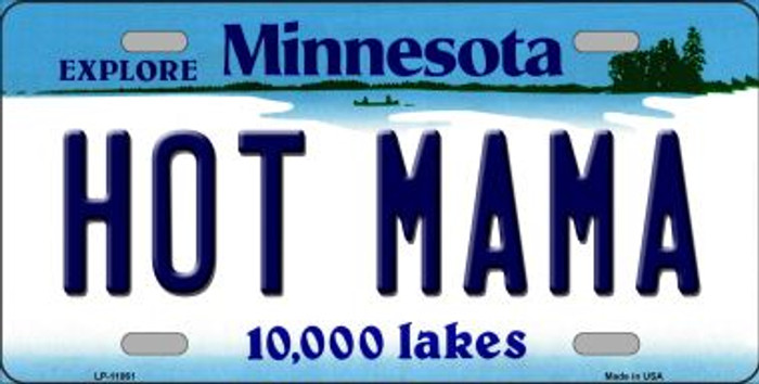 Hot Mama Minnesota Novelty Metal Vanity License Plate Tag LP-11061