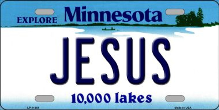 Jesus Minnesota Novelty Metal Vanity License Plate Tag LP-11064