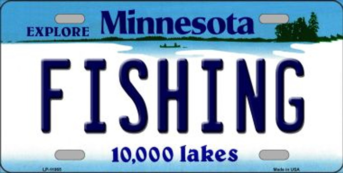 Fishing Minnesota Novelty Metal Vanity License Plate Tag LP-11065