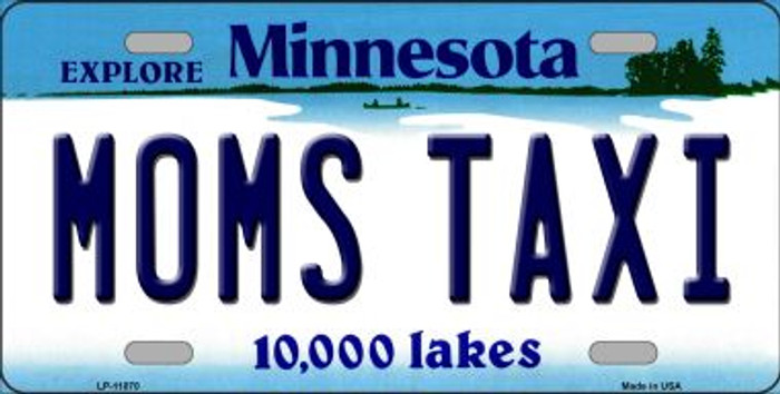Moms Taxi Minnesota Novelty Metal Vanity License Plate Tag LP-11070