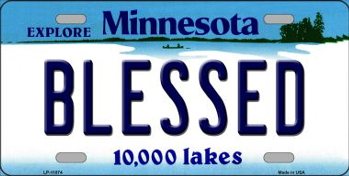 Blessed Minnesota Novelty Metal Vanity License Plate Tag LP-11074