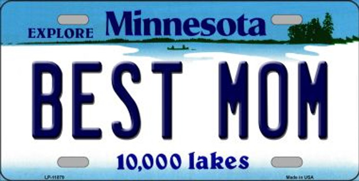 Best Mom Minnesota Novelty Metal Vanity License Plate Tag LP-11079