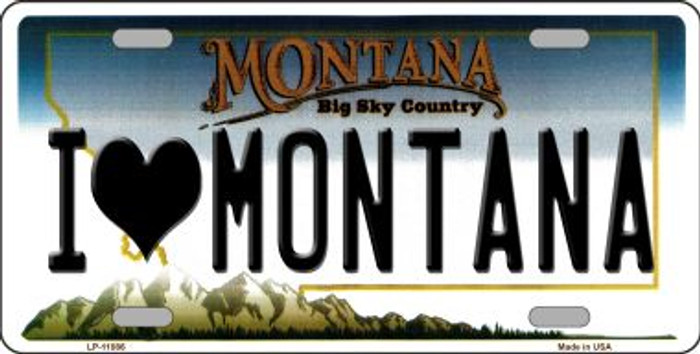 I Love Montana Novelty Metal Vanity License Plate Tag LP-11086