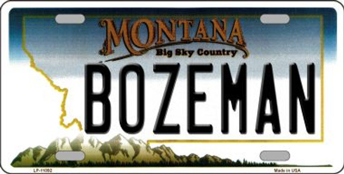 Bozeman Montana Novelty Metal Vanity License Plate Tag LP-11092