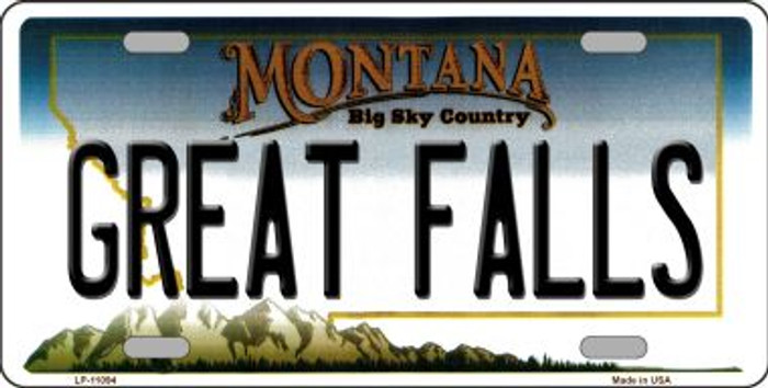 Great Falls Montana Novelty Metal Vanity License Plate Tag LP-11094