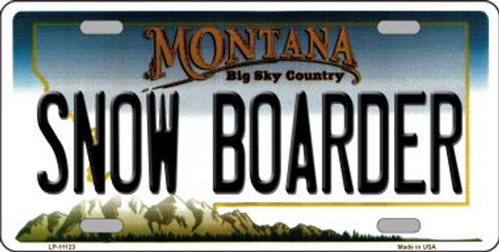 Snow Boarder Montana Novelty Metal Vanity License Plate Tag LP-11123
