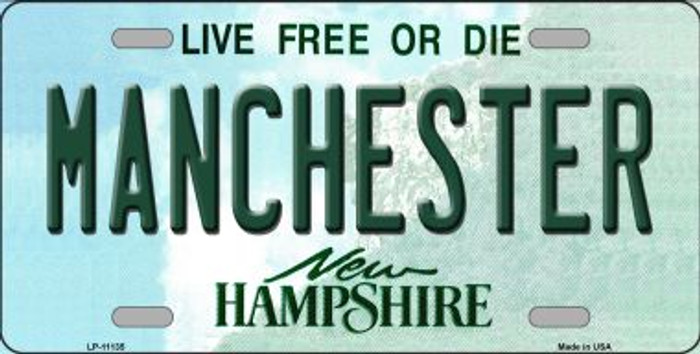 Manchester New Hampshire Novelty Metal Vanity License Plate Tag LP-11135