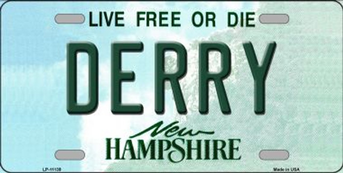 Derry New Hampshire Novelty Metal Vanity License Plate Tag LP-11139