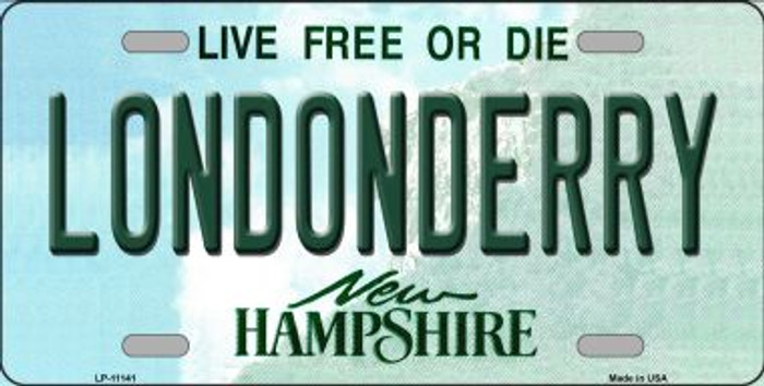 Londonderry New Hampshire Novelty Metal Vanity License Plate Tag LP-11141