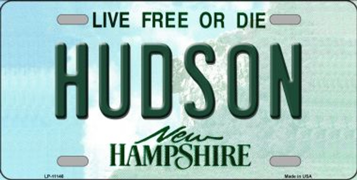 Hudson New Hampshire Novelty Metal Vanity License Plate Tag LP-11146