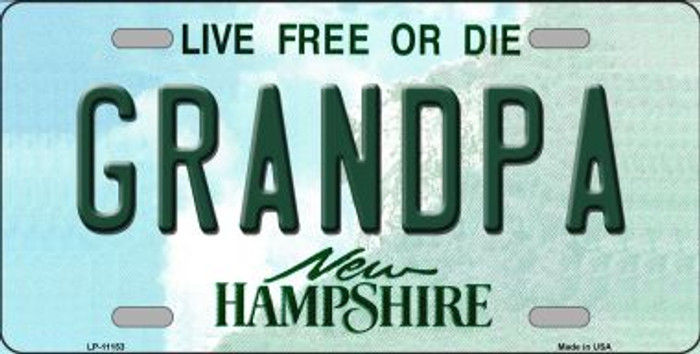 Grandpa New Hampshire Novelty Metal Vanity License Plate Tag LP-11153