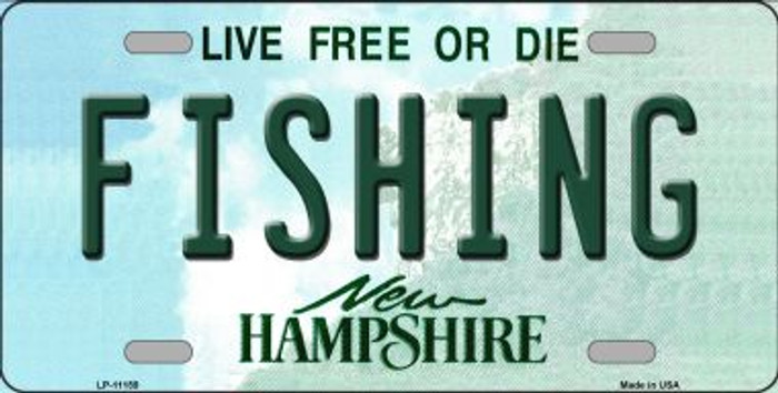 Fishing New Hampshire Novelty Metal Vanity License Plate Tag LP-11159