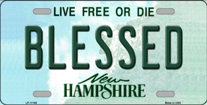 Blessed New Hampshire Novelty Metal Vanity License Plate Tag LP-11168