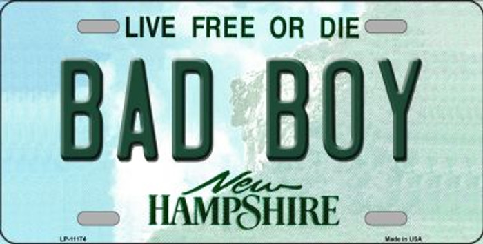 Bad Boy New Hampshire Novelty Metal Vanity License Plate Tag LP-11174