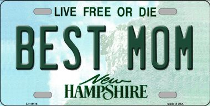 Best Mom New Hampshire Novelty Metal Vanity License Plate Tag LP-11176