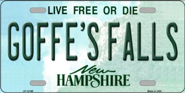 Goffes Falls New Hampshire Novelty Metal Vanity License Plate Tag LP-12166