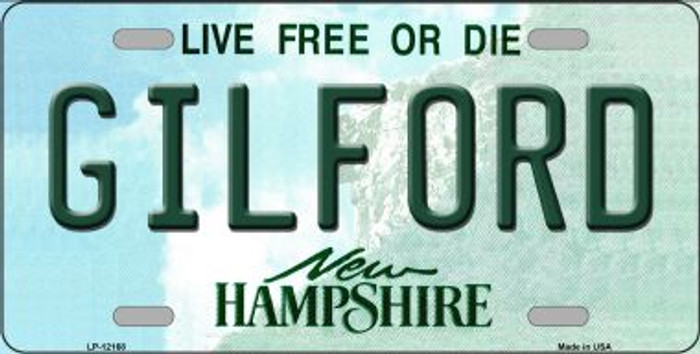 Gilford New Hampshire Novelty Metal Vanity License Plate Tag LP-12168