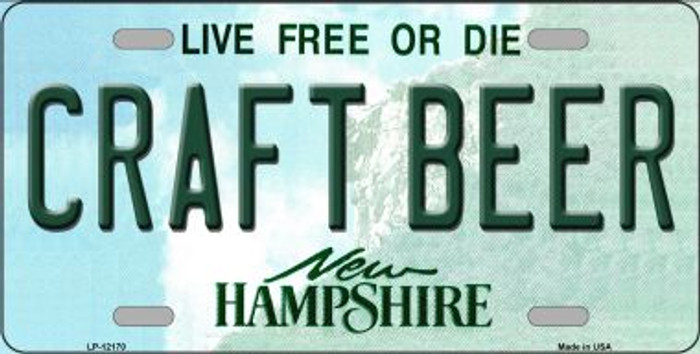 Craft Beer New Hampshire Novelty Metal Vanity License Plate Tag LP-12170