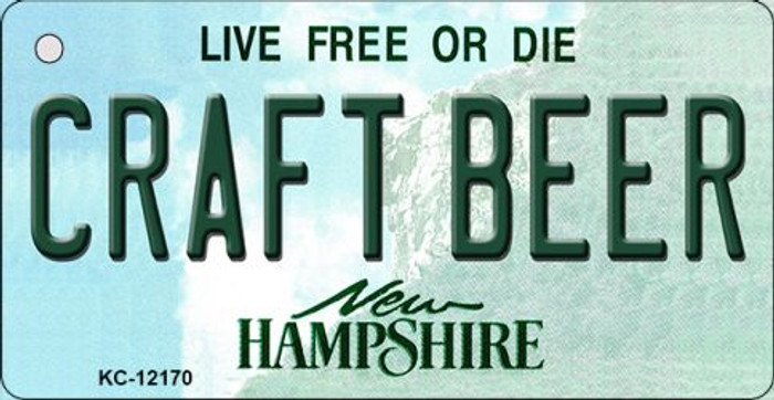 Craft Beer New Hampshire Novelty Metal Key Chain KC-12170