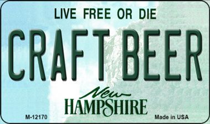 Craft Beer New Hampshire Novelty Metal Magnet M-12170