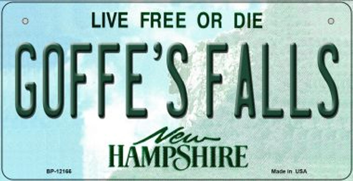 Goffes Falls New Hampshire Novelty Metal Bicycle Plate BP-12166