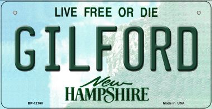 Gilford New Hampshire Novelty Metal Bicycle Plate BP-12168