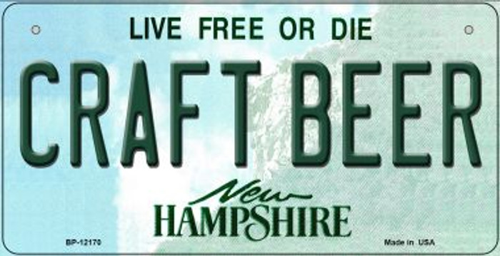 Craft Beer New Hampshire Novelty Metal Bicycle Plate BP-12170
