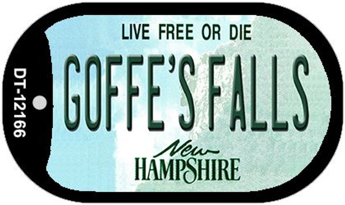 Goffes Falls New Hampshire Novelty Metal Dog Tag Necklace DT-12166