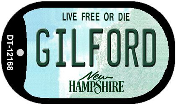 Gilford New Hampshire Novelty Metal Dog Tag Necklace DT-12168