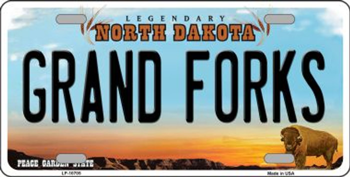 Grand Forks North Dakota Novelty Metal Vanity License Plate Tag LP-10705