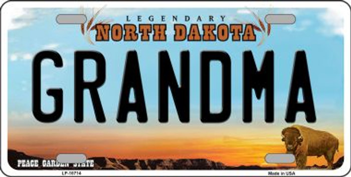Grandma North Dakota Novelty Metal Vanity License Plate Tag LP-10714
