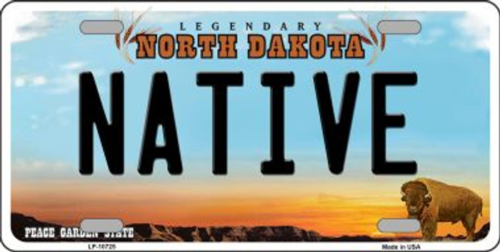 Native North Dakota Novelty Metal Vanity License Plate Tag LP-10725