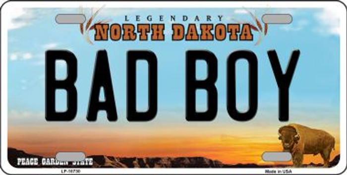 Bad Boy North Dakota Novelty Metal Vanity License Plate Tag LP-10730