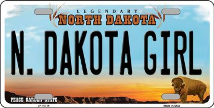 N Dakota Girl Novelty Metal Vanity License Plate Tag LP-10736