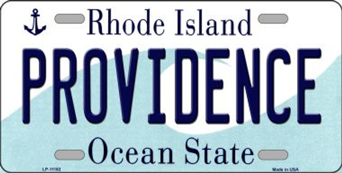 Providence Rhode Island Novelty Metal Vanity License Plate Tag LP-11182