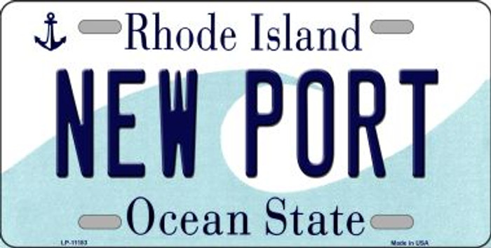New Port Rhode Island Novelty Metal Vanity License Plate Tag LP-11183