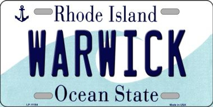 Warwick Rhode Island Novelty Metal Vanity License Plate Tag LP-11184