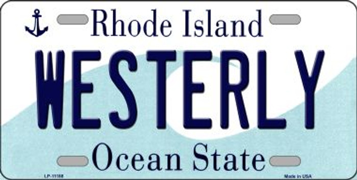 Westerly Rhode Island Novelty Metal Vanity License Plate Tag LP-11188