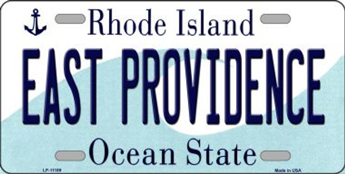 East Providence Rhode Island Novelty Metal Vanity License Plate Tag LP-11189