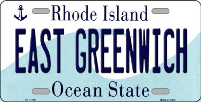 East Greenwich Rhode Island Novelty Metal Vanity License Plate Tag LP-11190