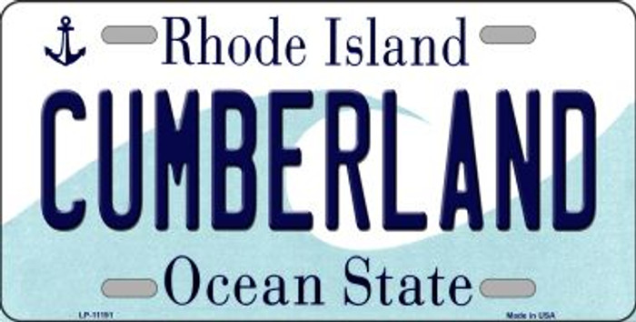 Cumberland Rhode Island Novelty Metal Vanity License Plate Tag LP-11191