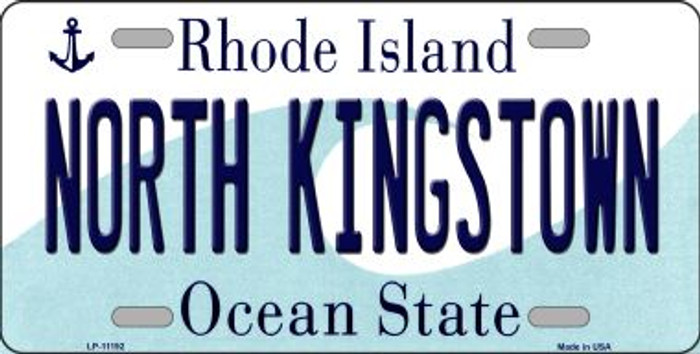 North Kingstown Rhode Island Novelty Metal Vanity License Plate Tag LP-11192