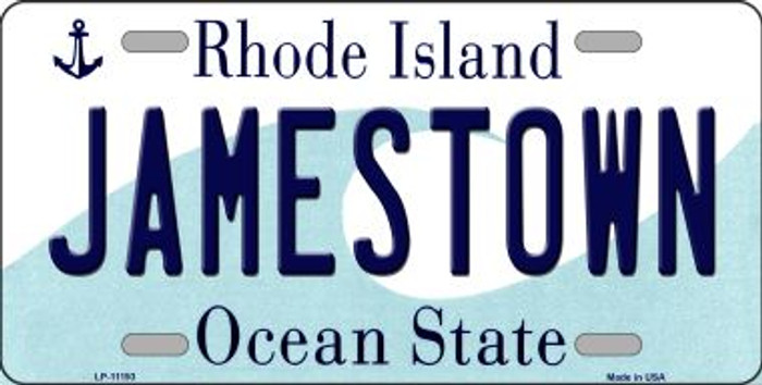 Jamestown Rhode Island Novelty Metal Vanity License Plate Tag LP-11193