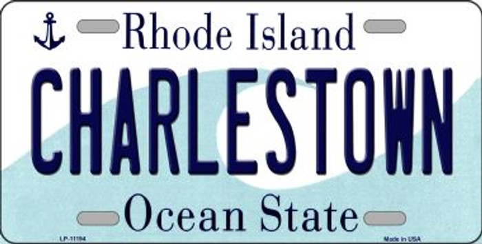 Charlestown Rhode Island Novelty Metal Vanity License Plate Tag LP-11194