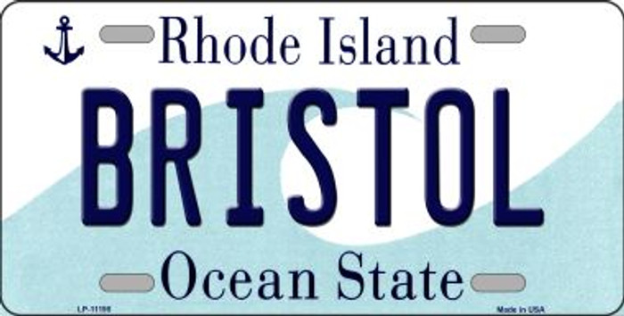 Bristol Rhode Island Novelty Metal Vanity License Plate Tag LP-11195