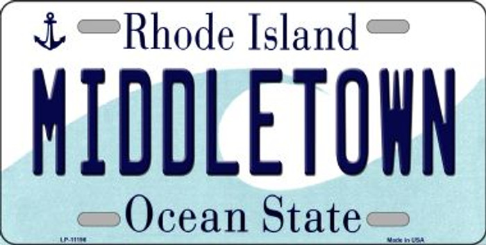 Middletown Rhode Island Novelty Metal Vanity License Plate Tag LP-11196