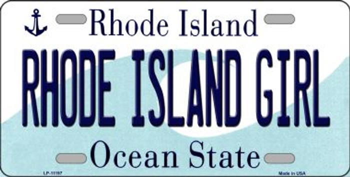 Rhode Island Girl Novelty Metal Vanity License Plate Tag LP-11197
