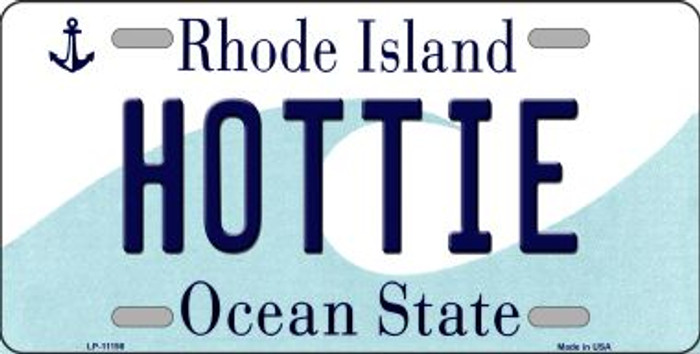 Hottie Rhode Island Novelty Metal Vanity License Plate Tag LP-11198
