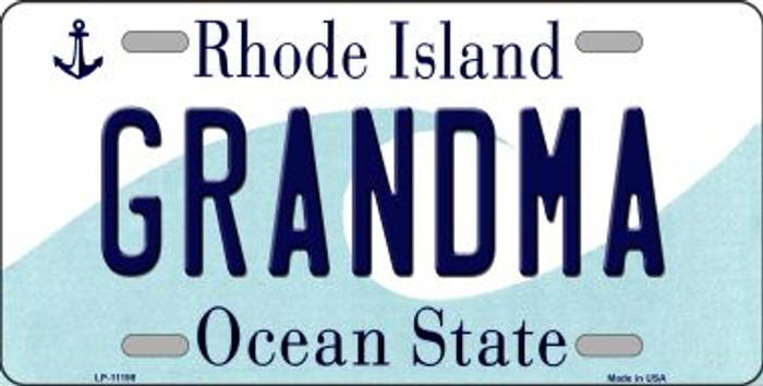 Grandma Rhode Island Novelty Metal Vanity License Plate Tag LP-11199